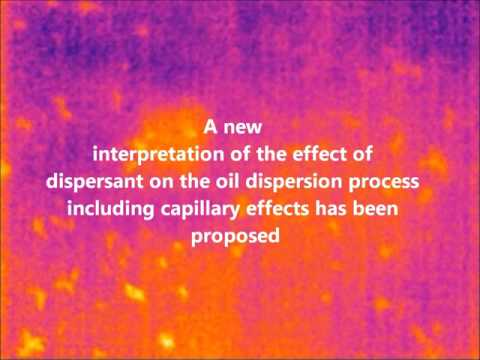 Response of crude and weathered oil slicks to FTT-SolutionTM dispersant in infrared imagery