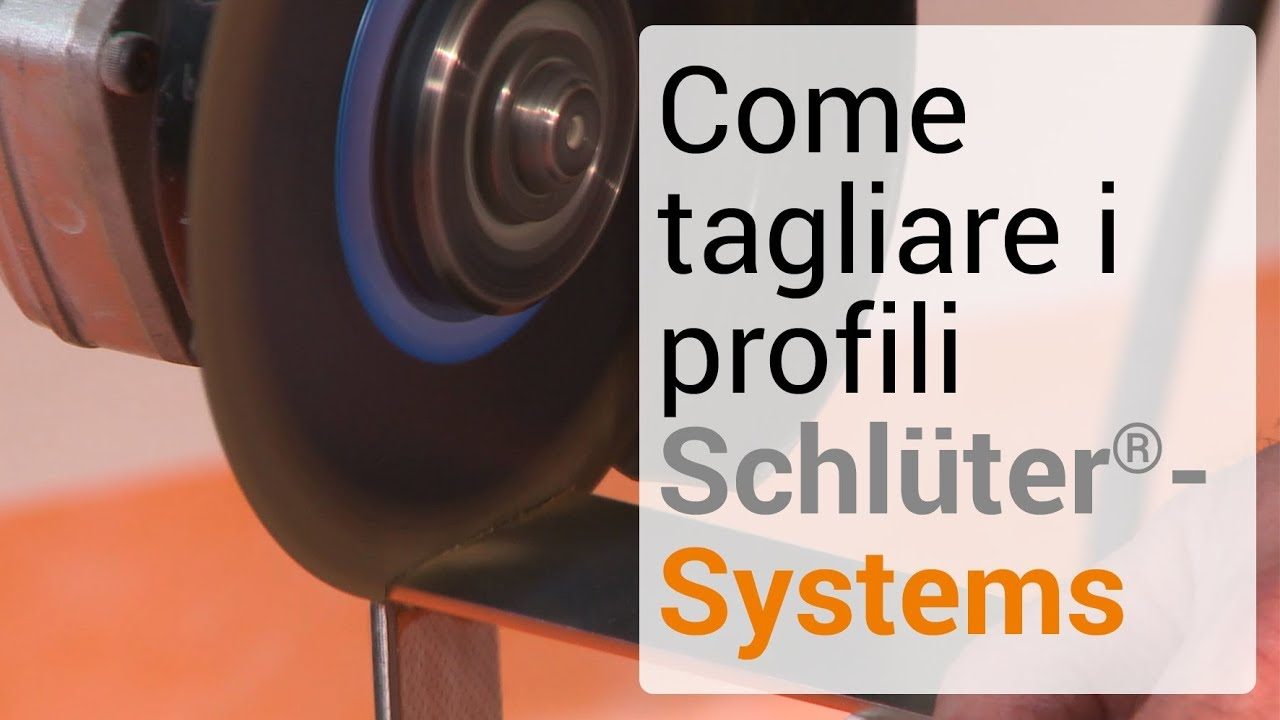 Come tagliare i profili schlüter systems youtube