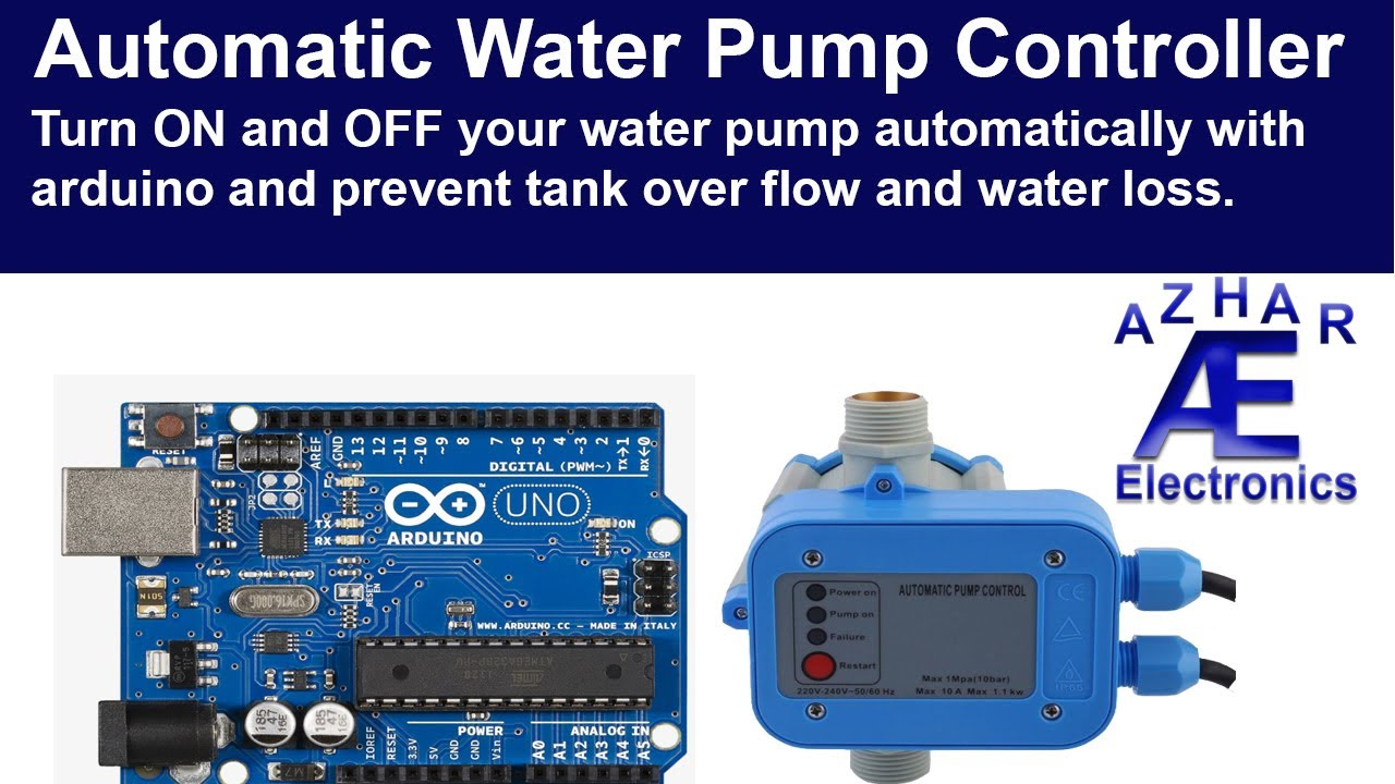 How To Make Automatic Water Pump Controller Using Arduino Youtube Ultrasonic Generator Circuit Gt 50w 220v