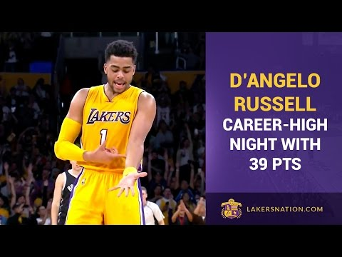 Lakers Rookie D'Angelo Russell Scores 39, 'Ice In My Veins' Celebration