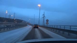 Rijecka obilaznica/A7 od tunela Draga do cvora Sv. Kuzam, snijeg i led, 25.03.2013.