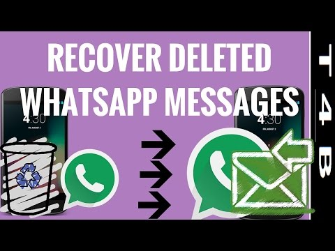 how to recover whatsapp deleted messages, restore retrieve WhatsApp Messages chat   Whatsapp Tricks