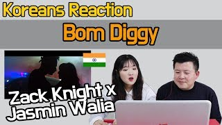 Zack Knight x Jasmin Walia - Bom Diggy Reaction [Koreans Hoon & Cormie] / Hoontamin