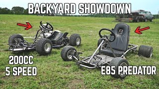 Yard Kart Racing SHOWDOWN | Shifter Kart vs. E85 212!