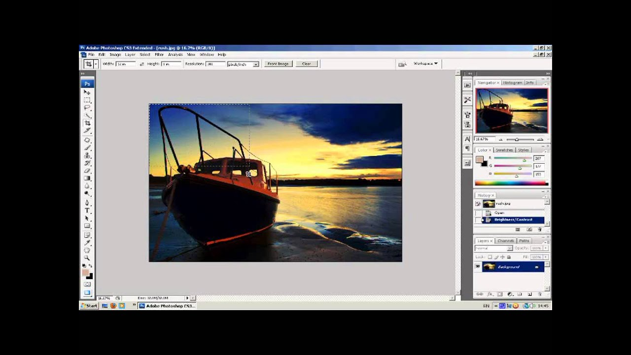 how to close crop in photoshop