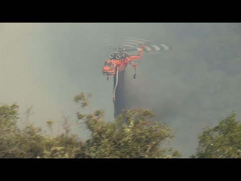 Raw: Firefighters Fight Calif. Fires From Above