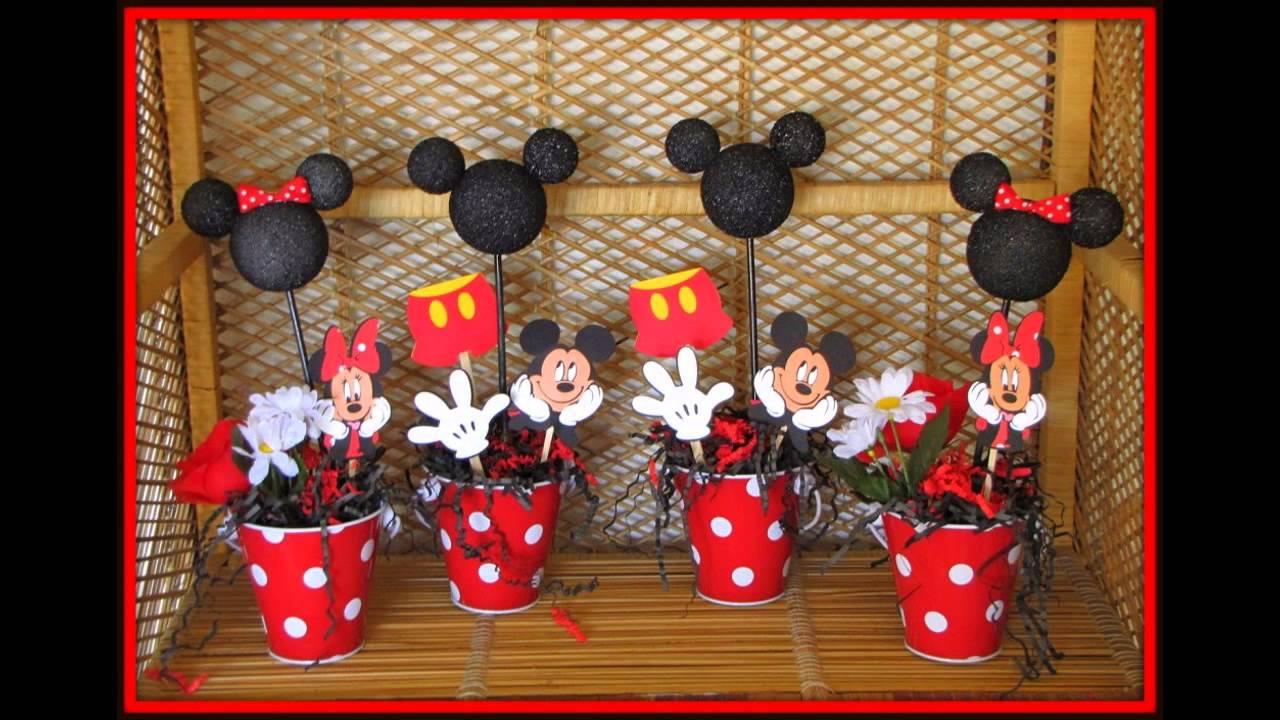 Mickey mouse baby shower decorations ideas youtube for Baby mickey decoration ideas