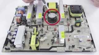 Reparando Samsung TV LCD no se enciende - Sin imagen, pantalla oscura - Capacitores son malos