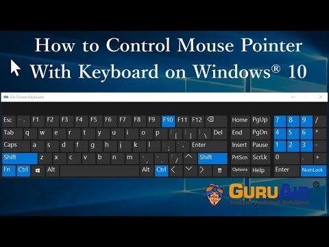 How to Control Mouse Pointer With Keyboard on Windows 10