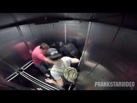 Прикол в лифте диарея!