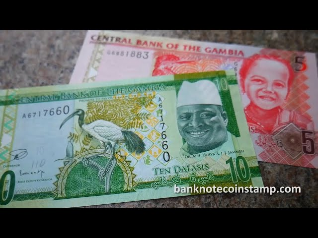 Gambian 10 & 5 Dalasi Banknotes - Subscriber's Request