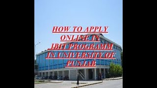 How To Apply in IBIT Programm In Punjab University/Pu Admission 2018
