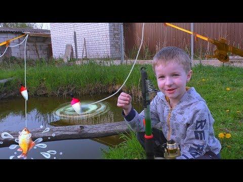 ДЕТИ на рыбалке! Есть ли в нашем болоте РЫБА? ВЛОГ