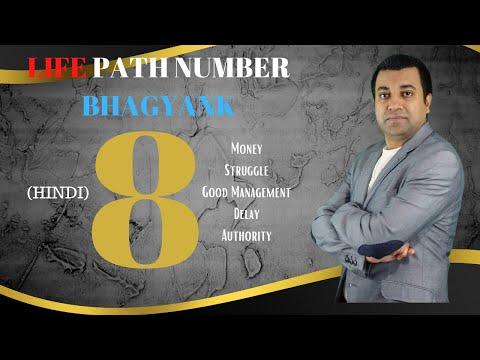 Life Path Number  8 - Hindi