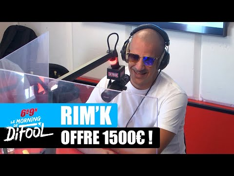 Youtube: Rim'K offre 1500€ à une auditrice! #MorningDeDifool