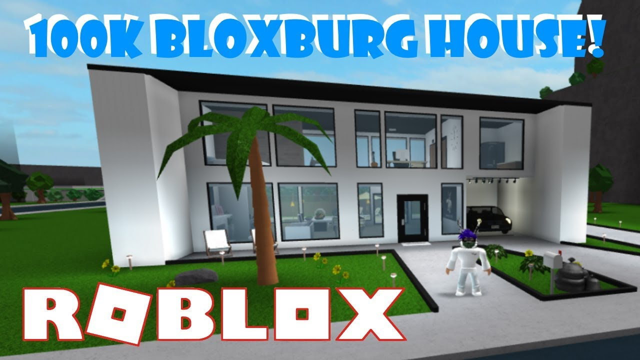 100k bloxburg modern house tour roblox youtube for Building a modern home for 100k