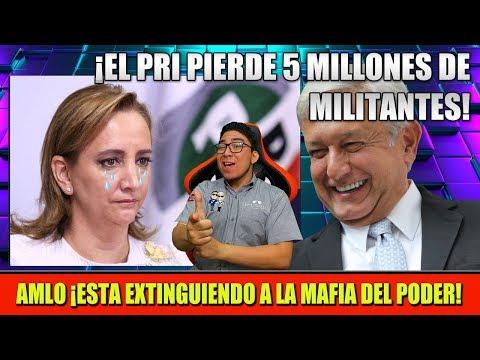 GRACIAS A AMLO ¡EL PRI PIERDE 5 MILLONES DE MILITANTES! YA NO SABEN QUE HACER