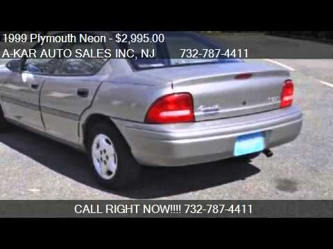 1999 Plymouth Neon Highline Sedan