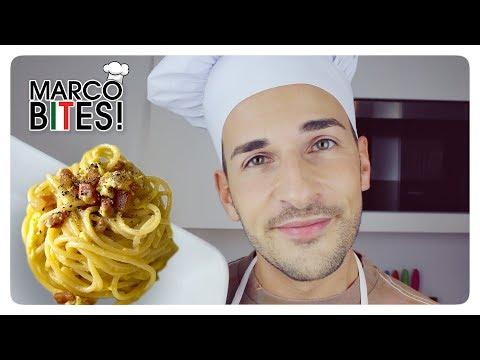 Real Spaghetti CARBONARA (with NO Cream!) ● MARCO BITES!
