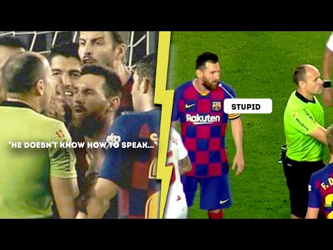 This is how Lionel Messi tried to save Ousmane Dembele from red card |MrMatador