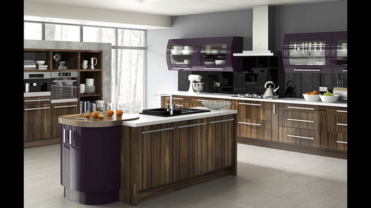 High Gloss Kitchen Cabinets Modern High Gloss White Wood - Gloss grey kitchen units