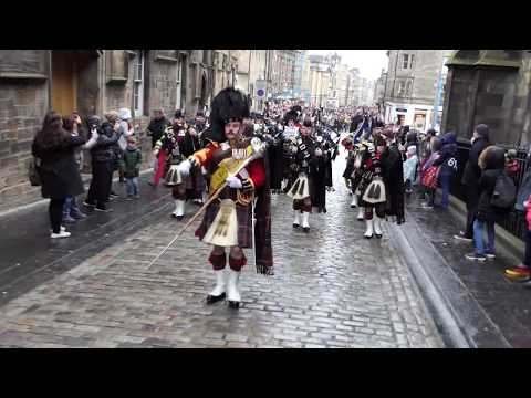 Armistice Centenary Parade 2018 - St Giles to Edinburgh Castle [4K/UHD]