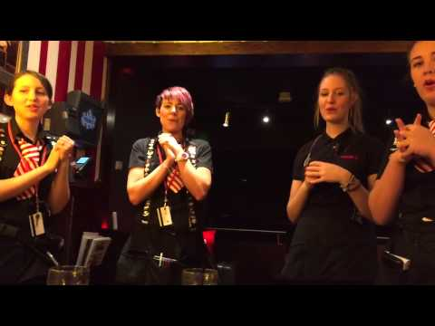 My happy birthday Song from the ladies at TGI Fridays.