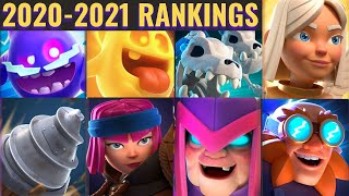 CLASH ROYALE CARDS RANKED (2020-2021)