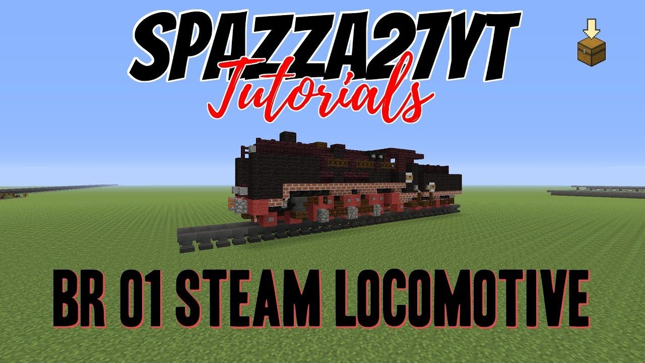 how to build a steam locomotive minecraft