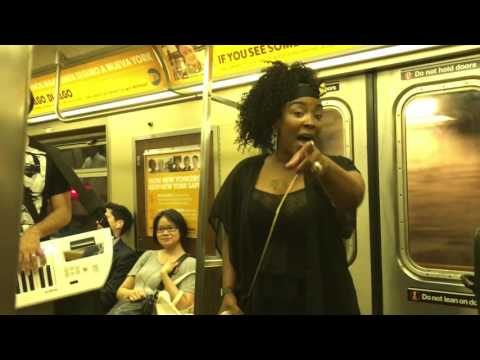 Alicia Keys - If I Ain't Got You - NYC Subway Singer Denise Weeks