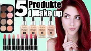 GANZES MAKE UP mit so WENIG Produkten wie MÖGLICH! 💥 Drogerie Alltags Make-up luisacrashion