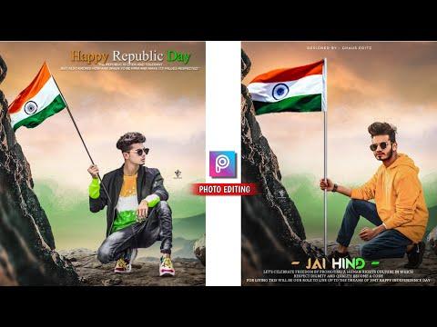 26 January Photo Editing || Happy Republic Day Photo Editing || Picsart Photo Editing - Ghaus Editz