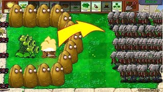 Plants vs Zombies Hack - 1 Threepeater vs 999 Gargantuar Zombies