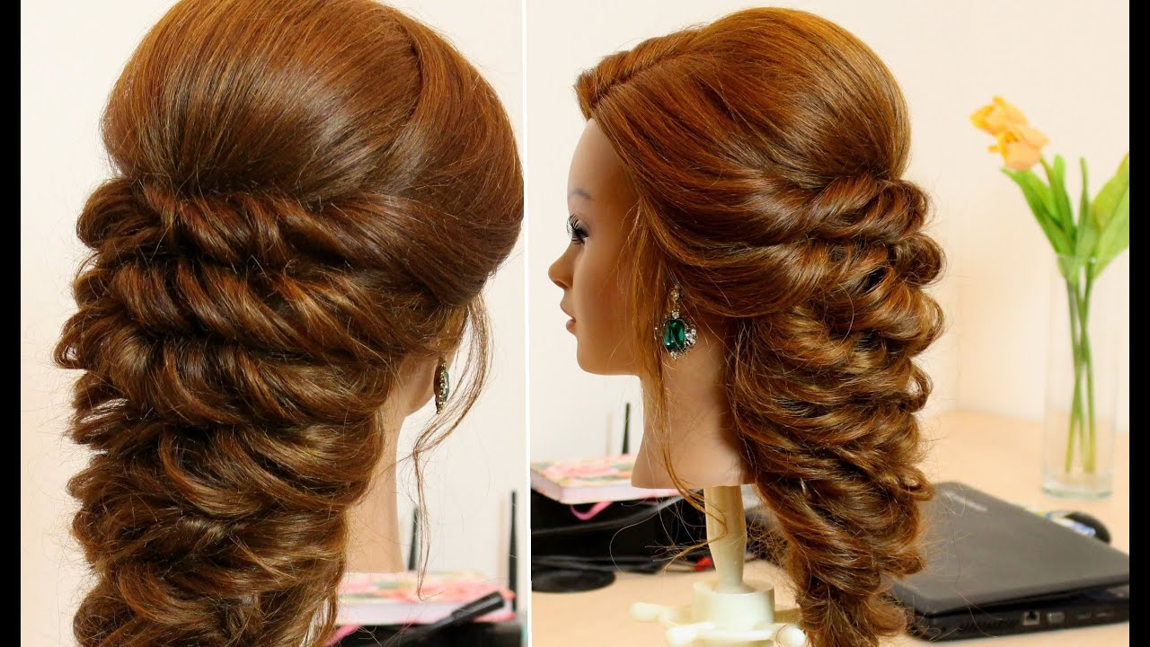 Easy hairstyle for long hair tutorial - YouTube