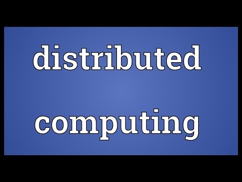 Distributed computing Meaning