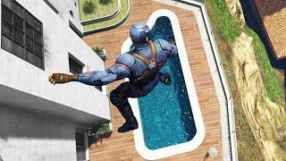 GTA 5 Parkour Fails Ep.1 | Captain America