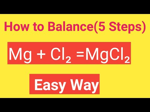 Mg + Cl2 =MgCl2 Balanced Equation||Magnesium +Chlorine = Magnesium Chloride Balanced Equation