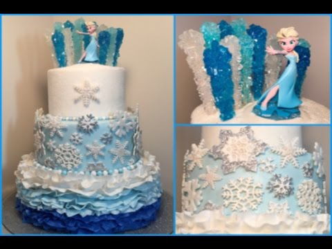 how to prepare frozen wedding cake frozen themed birthday fondant cake my bday 16103
