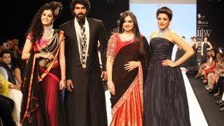 Rana daggubati, Kajal Aggarwal & Tapsee walks for Moni Agarwal at IIJW Mumbai 2013