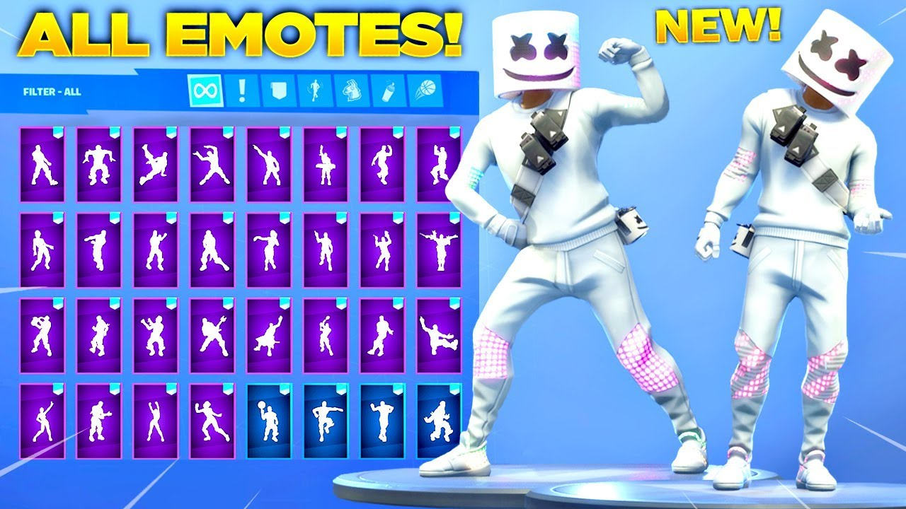 new marshmello skin showcase with all fortnite dances new emotes fortnite season 7 skin - dj llama skin fortnite png