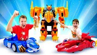 Видео игры - Лео и Драка на Турнире Монкарт! - Игры гонки и машины трансформеры.