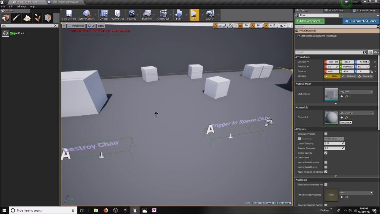 RIT Virtual Worlds: Unreal 4 Basic Interactivity - SpawnActor