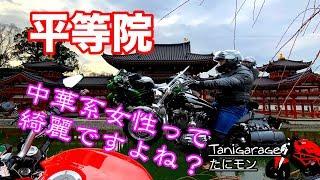 【マスツー】平等院〜中華系女性観光客や抹茶ソフト DUCATIモンスター797