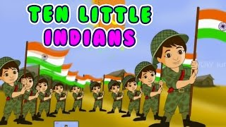 Ten Little Indians Nursery Rhymes for Children | Animated Nursery Rhyme For Kids