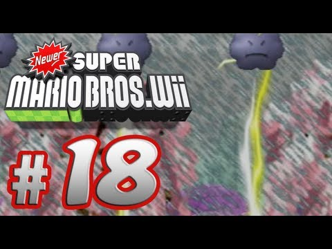 Newer Super Mario Bros. Wii - 100% Co-op Walkthrough Part 18