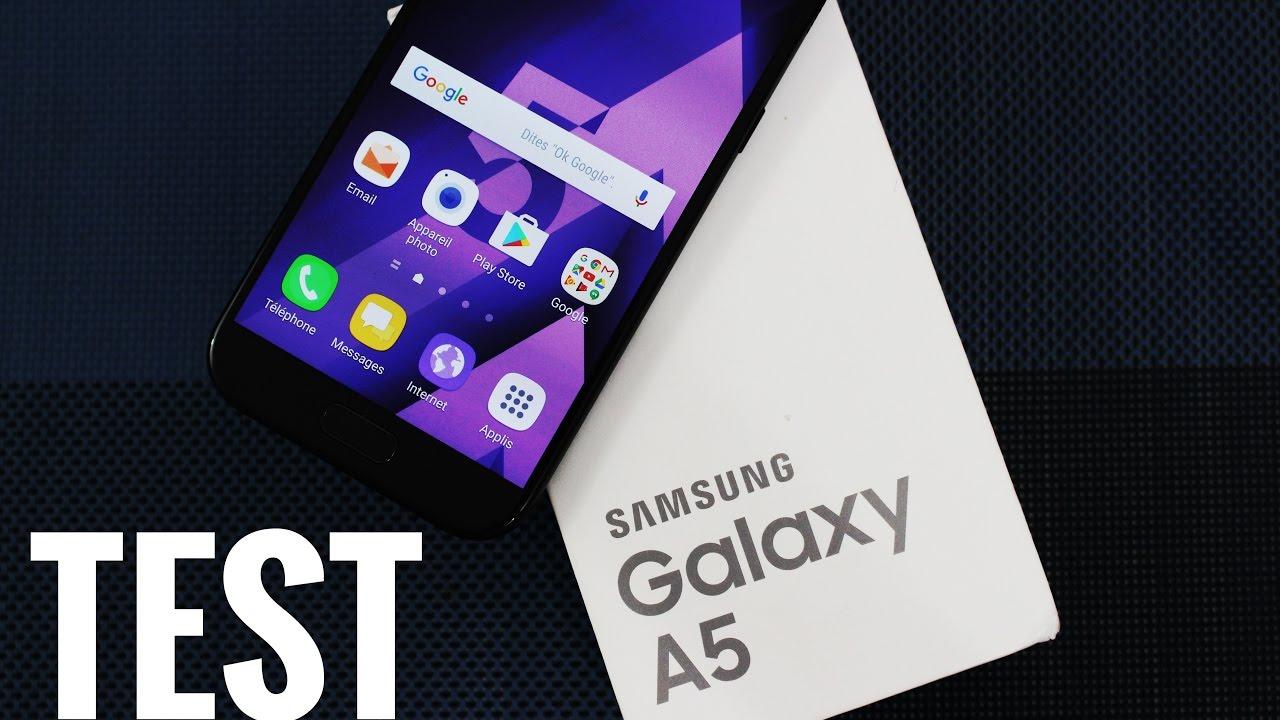 test du samsung galaxy a5 2017 high tech smartphone youtube. Black Bedroom Furniture Sets. Home Design Ideas