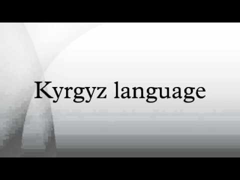 Kyrgyz language