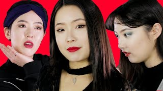Korean Girls Try Western Makeup For The First Time [Korean Bros]