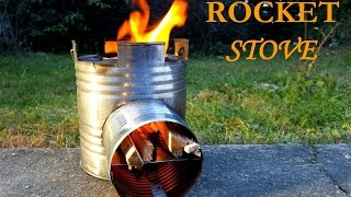 How to make Rocket Stove - DIY - homemade from can