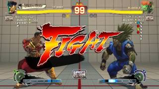 Ultra Street Fighter IV battle: M. Bison vs Blanka
